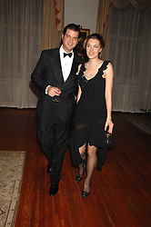 SARA BRAJOVIC and PRINCE CASIMIR ZU SAYN-WITTGENSTEIN-SAYN at a dinner hosted by the Italian Ambassador for the Buccellati family held at the Italian Embassy, Grosvenor Square, London on 28th March 2007.<br />