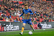 Jon Nolan of Shrewsbury Town (20) in action during the EFL Trophy Final match between Lincoln City and Shrewsbury Town at Wembley Stadium, London, England on 8 April 2018. Picture by Stephen Wright.