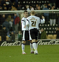 Photo: Kevin Poolman.<br />Derby County v Crystal Palace. Coca Cola Championship. 16/12/2006. David Jones and Bob Malcolm of Derby are happy after their win over Crystal Palace.