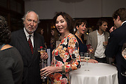 ED VICTOR; CAROL VICTOR, The Brown's Hotel Summer Party hosted by Sir Rocco Forte and Olga Polizzi, Brown's Hotel. Albermarle St. London. 14 May 2015