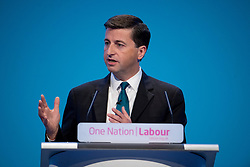 © London News Pictures. 23/09/2013 . Brighton, UK.   Shadow Foreign Secretary DOUGLAS ALEXANDER speaking on day two of the Labour Party Annual Conference in Brighton. Photo credit : Ben Cawthra/LNP