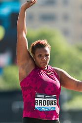 Tia Brooks, USA, women's shot put, adidas Grand Prix Diamond League track and field meet