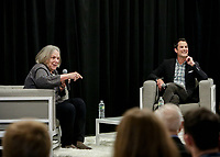 Boston Lyric Opera presented an evening with Anne Bogart and Jared Bowen at the District Hall in Boston MA on April 18, 2019