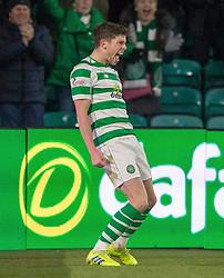 Celtic's Ryan Christie celebrates scoring his side's second goal of the game during the Ladbrokes Scottish Premiership match at Celtic Park, Glasgow.