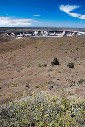 Halema`uma`u Crater, Kilauea Caldera, Hawaii Volcanoes National Park, Big Island, Hawaii
