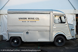 Cool Citroen based Union Wine Co truck at the One Show motorcycle show in Portland, OR. February 12, 2016. ©2016 Michael Lichter