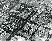 1920 Aerial of Hollywood Blvd. & Vine St. Residence of Jacob Stern is in the center of the photo