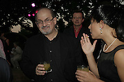 SALMAN RUSHDIE, The Summer Party sponsored by Yves St. Laurent. Serpentine Gallery. 11 July 2006. . ONE TIME USE ONLY - DO NOT ARCHIVE  © Copyright Photograph by Dafydd Jones 66 Stockwell Park Rd. London SW9 0DA Tel 020 7733 0108 www.dafjones.com