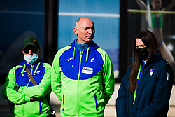 reception and press conference on return of Slovenian Athletic National team from European Championships in Torun (POL), on March 8, 2021 in  Ljubljana, Slovenia.  Photo by Grega Valancic / Sportida