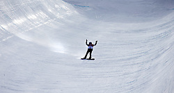 February 12, 2018 - Pyeongchang, South Korea - Calynn Irwin of Canada throws up her hands in the middle of the halfpipe after falling during the action in the Ladies Halfpipe Qualification Round 2 at the 2018 Pyeongchang Winter Olympics. (Credit Image: © Daniel A. Anderson via ZUMA Wire)