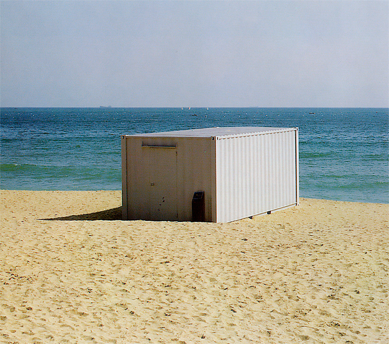 """2000 - Busan, South-Korea. """"Outside-Inside-Out"""" Sound installation in a sea container of the city´s space and fragments of the music of Yun I-Sang (Isang Yun)"""