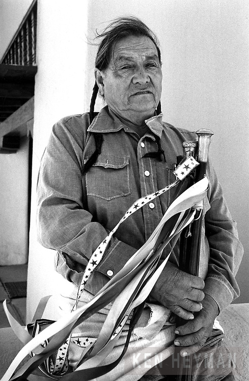 """Paul Bernal, the chief or """"governor"""" of the Taos Pueblo in Northern New Mexico."""