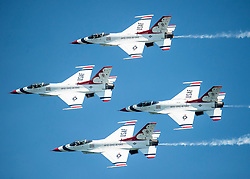 Since 1953, the Thunderbirds team has served as America's premier air demonstration squadron, entrusted with the vital mission to recruit, retain and inspire past, present and future Airmen. (U.S. Air Force photo by Senior Airman Cory W. Bush)