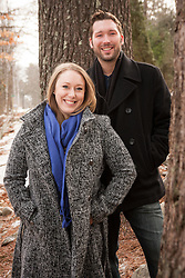 Reid and Hannah at home during the Winter Holidays