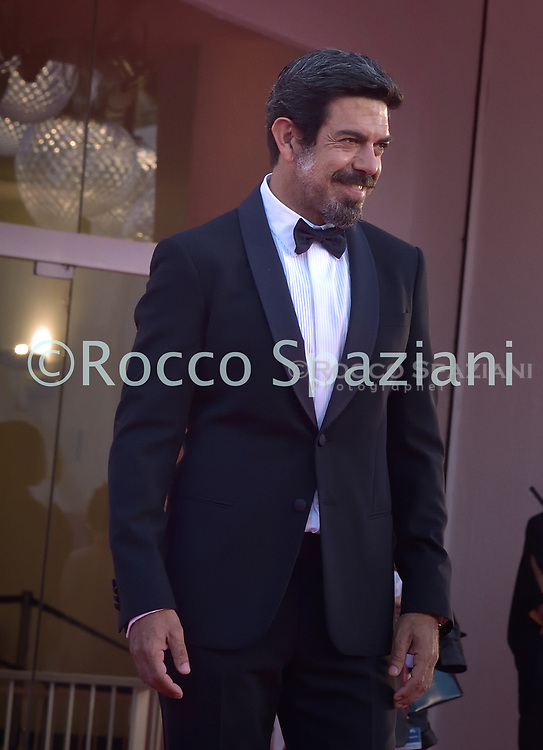 VENICE, ITALY - SEPTEMBER 12:Pierfrancesco Favinoi walk the red carpet ahead of closing ceremony at the 77th Venice Film Festival on September 12, 2020 in Venice, Italy.<br /> (Photo by Rocco Spaziani)