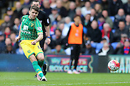 Robbie Brady of Norwich City taking a shot. Barclays Premier League match, Crystal Palace v Norwich city at Selhurst Park in London on Saturday 9th April 2016. pic by John Patrick Fletcher, Andrew Orchard sports photography.
