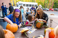Boys and Girls Club pumpkin carving for Pumpkin Fest 2015.  Karen Bobotas for the Laconia Daily Sun