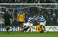 Photo. Chris Ratcliffe<br /> QPR v Rushden & Diamonds. Nationwide Division 2. 03/01/2004<br /> Kevin Gallen turns after scoring QPR's opening goal.