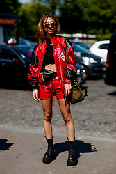 Street style, Marx Mae arriving at Off White Spring-Summer 2019 menswear show held at Palais de Chaillot, in Paris, France, on June 20th, 2018. Photo by Marie-Paola Bertrand-Hillion/ABACAPRESS.COM