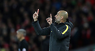 Manchester City Manager Pep Guardiola during the English Premier League match at Anfield Stadium, Liverpool. Picture date: December 31st, 2016. Photo credit should read: Lynne Cameron/Sportimage