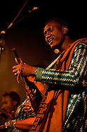 Bassekou Kouyate and his band Ngoni ba performing live at Union Chapel in Islington, London, UK (20 March 2014) © Rudolf Abraham