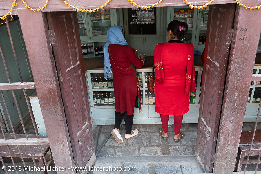 Ayurvedic pharmacy. Himalayan Heroes adventure - back in Kathmandu after the ride, Nepal. Friday, November 16, 2018. Photography ©2018 Michael Lichter.