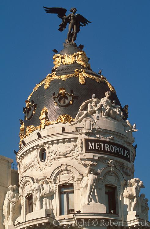 SPAIN, MADRID The Gran Via, bank building