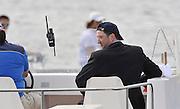 Marathon, GREECE, Umpire at the FISA European Rowing Championships.  Lake Schinias Rowing Course, FRI 19.09.2008  [Mandatory Credit Peter Spurrier/ Intersport Images] , Rowing Course; Lake Schinias Olympic Rowing Course. GREECE