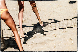 25-08-2019 NED: DELA NK Beach Volleyball, Scheveningen<br /> Last day NK Beachvolleyball / Feet, shadow, action, illustratief, illustration