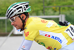Jure Golcer of Slovenia (LPR Brakes) winner of the 15th Tour de Slovenie in yellow jersey in 4th stage from Celje to Novo mesto (157 km), on June 14,2008, Slovenia. (Photo by Vid Ponikvar / Sportal Images)/ Sportida)