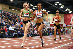 2020 USATF Indoor Championship<br /> Albuquerque, NM 2020-02-14<br /> photo credit: © 2020 Kevin Morris<br /> womens 800m, OTC, Nike, adidas