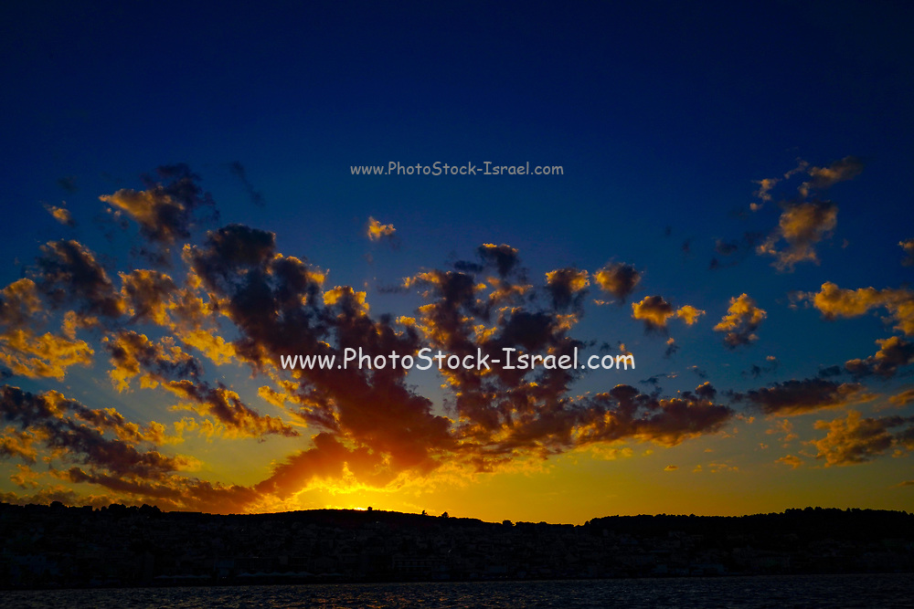 cloudscape at sunset On the Greek Island of Cephalonia, Ionian Sea, Greece