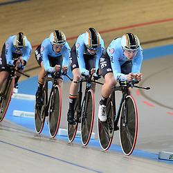 28-02-2018: Wielrennen: WK Baan: Apeldoorn<br />Women's Team Pursuit Qualifying Belgium