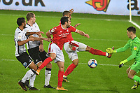 Football - 2020 / 2021 Sky Bet Championship - Swansea City vs Nottingham Forest - Liberty Stadium<br /> <br /> <br /> Lewis Grabban of Nottingham Forest fails to connect in front of goal<br /> <br /> COLORSPORT/WINSTON BYNORTH