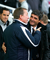 Photo: Tom Dulat/Sportsbeat Images.<br /> <br /> West Ham United v Tottenham Hotspur. The FA Barclays Premiership. 25/11/2007.<br /> <br /> Manager of West Ham United Alan Curbishley and manager of Tottenham Hotspur Juande Ramos minutes before kick off.