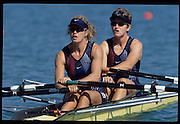 Sydney, AUSTRALIA, USA W2X, bow, Carol SKRICKI and Ruth DAVIDON. 2000 Olympic Regatta, West Lakes Penrith. NSW.  [Mandatory Credit. Peter Spurrier/Intersport Images] Sydney International Regatta Centre (SIRC) 2000 Olympic Rowing Regatta00085138.tif