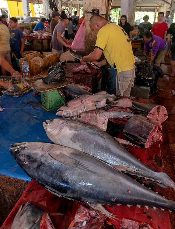 Tunas for sale at Tomohon extreme market, north Sulawesi, Indonesia.
