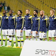 Fenerbahce's players during their Turkish superleague soccer match Fenerbahce between Genclerbirligi at the Sukru Saracaoglu stadium in Istanbul Turkey on Saturday 25 October 2014. Photo by Aykut AKICI/TURKPIX