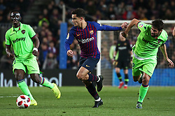 January 17, 2019 - Barcelona, Catalonia, Spain - Philippe Coutinho and  Coke during the match between FC Barcelona and Levante UD, corresponding to the 1/8 final of the spanish cup, played at the Camp Nou Stadium, on 17th January 2019, in Barcelona, Spain. (Credit Image: © Joan Valls/NurPhoto via ZUMA Press)