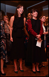 April 25, 2017 - London, London, United Kingdom - Image ©Licensed to i-Images Picture Agency. 25/04/2017. London, United Kingdom. Smart Works Fashion Club launch. The wife of the former Prime Minister David Cameron, Samantha Cameron launches the Smart Works Fashion Club with Isabel Spearman. Samantha Cameron speaking at a Q and A with Isabel Spearman at the Smart Work's Fashion Club launch at the Devonshire Club in the City of London Picture by Andrew Parsons / i-Images (Credit Image: © Andrew Parsons/i-Images via ZUMA Press)