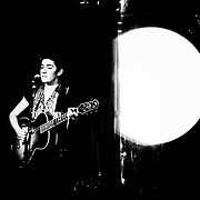 Singer/songwriter Zoe Boekbinder plays a show in Monterey, California in 2010.