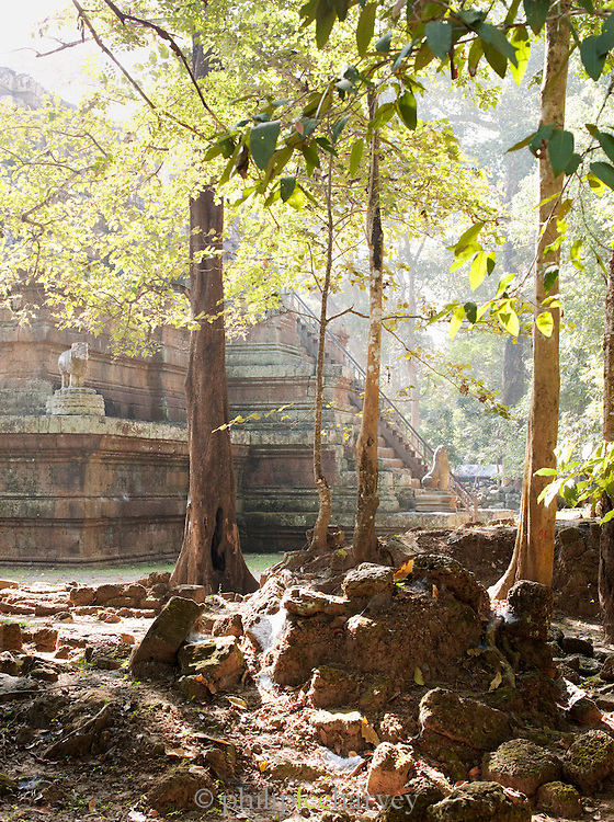An ancient temple at Angkor, Siem Reap Province, Cambodia