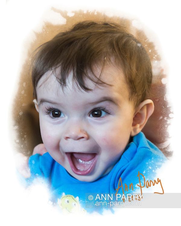 March 10, 2013 - New York, U.S. -  Ryan, a happy baby boy.