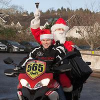 Santa arriving at St Clares School, Ennis on a motorbike