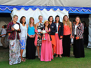 Henley on Thames. United Kingdom. Winners of The Remenham Challenge Cup<br /> Leander Club and Oxford Brookes University  left to Right.  Beth RODFORD, Melanie WILSON, Sarah COWBURN, [Louisa REEVE], Katie GREVES, Zoe LEE, Jess EDDIE, Olivia CARNEGIE-BROWN and Cox Zoe DE TOLEDO.  2013 Henley Royal Regatta, Henley Reach. 16:57:04  Sunday  07/07/2013  [Mandatory Credit; Intersport Images]