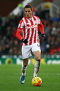 Ibrahim Afellay of Stoke City in action. Barclays Premier league match, Stoke city v Manchester city at the Britannia Stadium in Stoke on Trent, Staffs on Saturday 5th December 2015.<br /> pic by Chris Stading, Andrew Orchard sports photography.