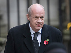 © Licensed to London News Pictures. 12/11/2017. London, UK. First Secretary of state Damian Green walks through Downing Street to attend the Remembrance Sunday Ceremony at the Cenotaph in Whitehall. Photo credit: Peter Macdiarmid/LNP