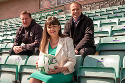 Pictured: Gary Locke, Clare Haughey and Mickey Weir<br />