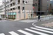 Tokyo street scene Naka Meguro neighborhood