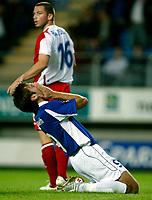 Fotball<br /> UEFA-cup 2006 <br /> 14.09.2006<br /> Molde v  Rangers FC 0-0<br /> Foto: Richard Brevik - Digitalsport<br /> <br /> Magne Hoseth - MFk<br /> phil bardsley - rangers